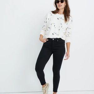 Madewell black skinny jeans sz 25